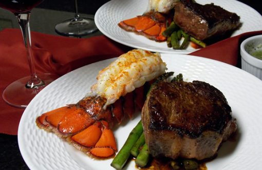 Homemade Surf & Turf for date night at home