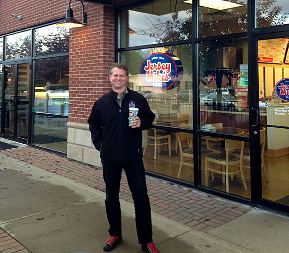 Chef Michael Ollier of the Certified Angus Beef brand visits Jersey Mike's sub shop