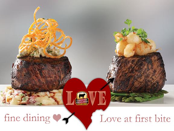 Fine dining on Valentine's Day
