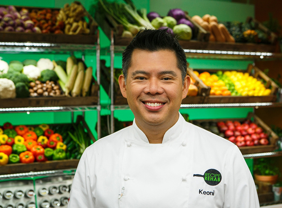Chef Keoni Chang, competing on CBS Recipe Rehab Feb. 15.