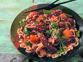 Sweet & Sour Beef Lo Mein