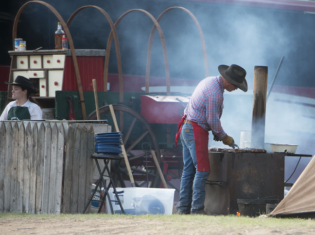 Ken Rollins, the Chuck Wagon Cook of Oklahoma.