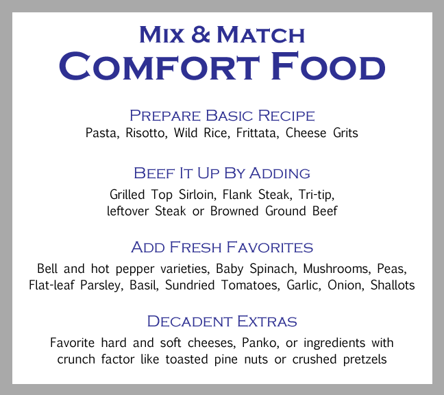 Mix & Match Ingredients for Comfort Food