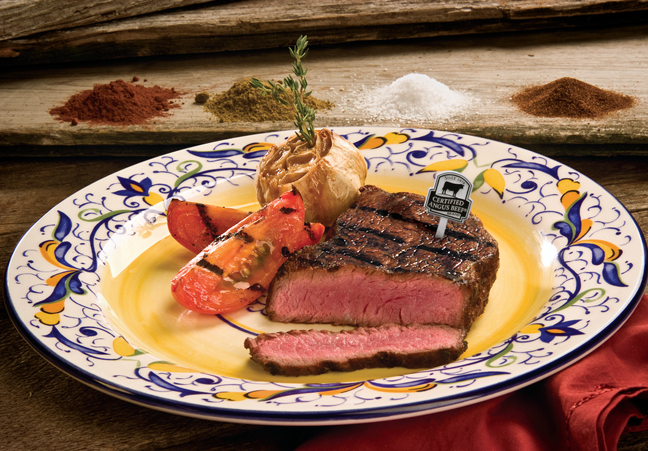 Spices and seasoning rubs add extra kick to sizzling steaks.