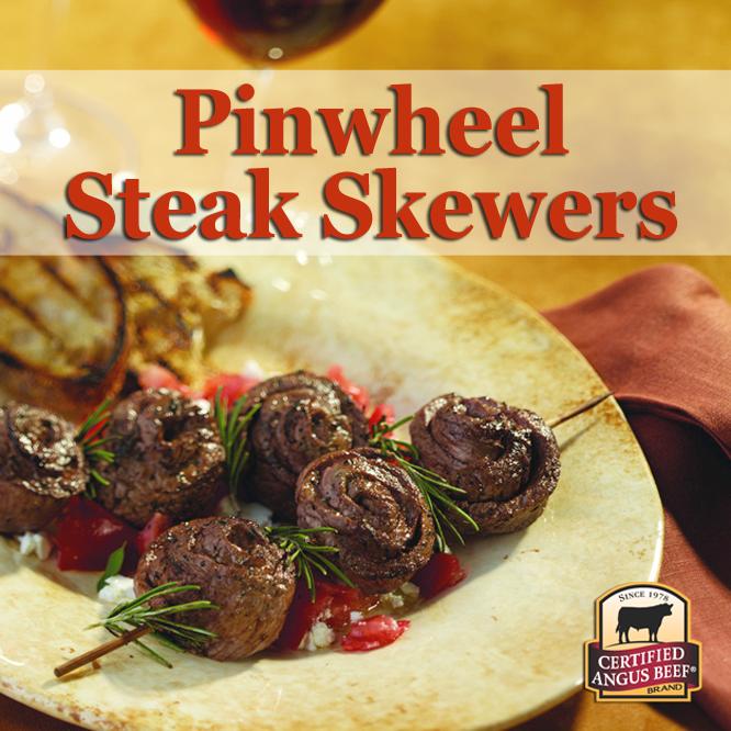 Pinwheel Steak Skewers