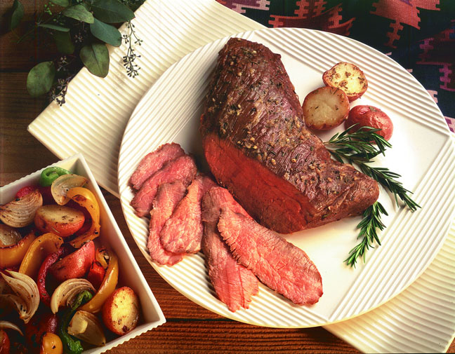 Grilled tri-tip roast for Dad