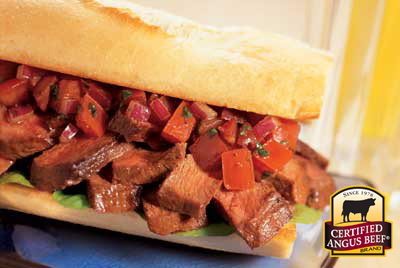 Steak Bruschetta Sandwich