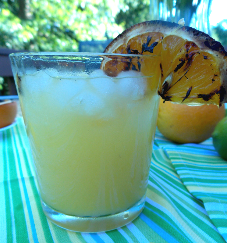 Summer cocktails with grilled citrus