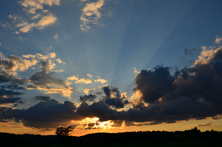 Sunset at Tuckaway Farm