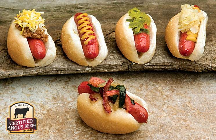 Hot Dog toppings from the Certified Angus Beef brand