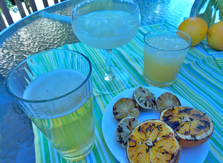 Grilled fruits add layers of flavor to summer cocktails!