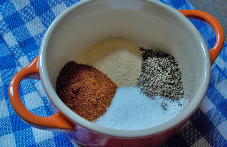 Spices for barbecued brisket
