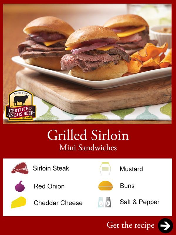Grilled Sirloin Mini Sandwiches