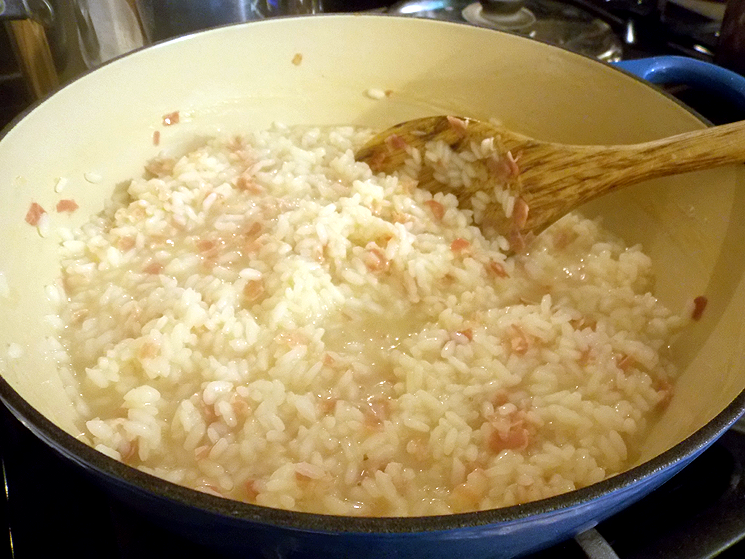 Making risotto