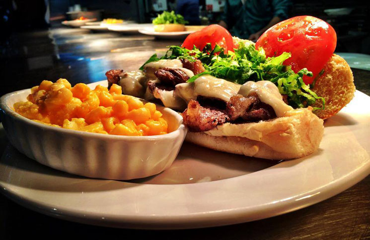 Steak Sandwich at Aubrey's