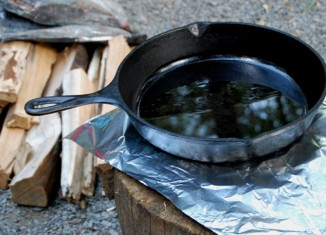 Cast Iron Skillet - perfect for campfire cooking