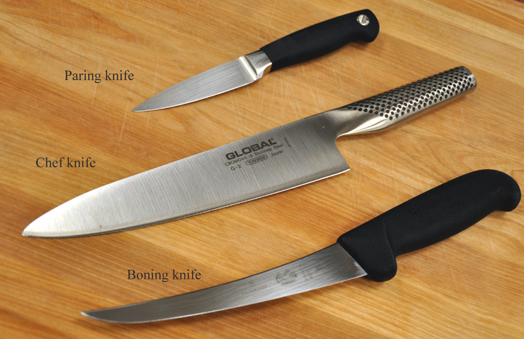 The three knives every home cook should have.