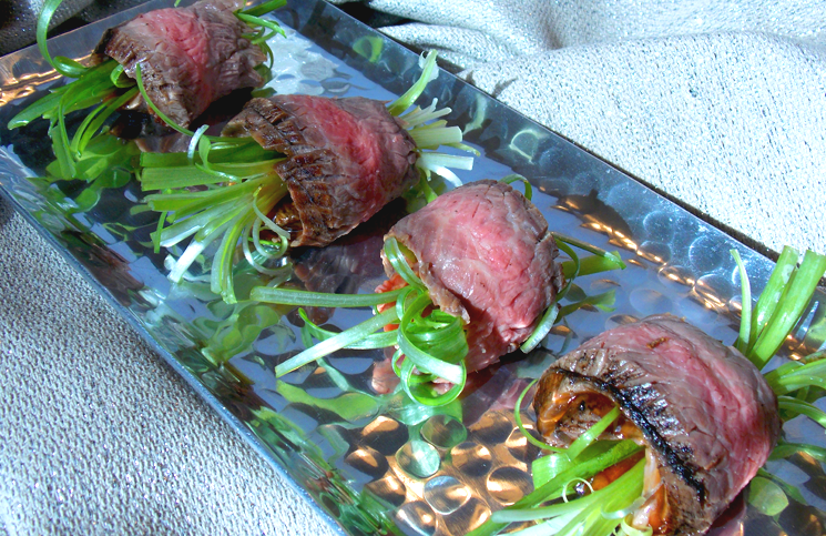 Beef Scallion Rolls