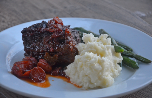 Red wine-braised beef short ribs make a rich, decadent dish, ideal for Valentine's Day or any occasion.