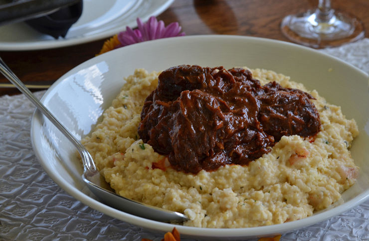 Beef Short Ribs and Cheese Grits