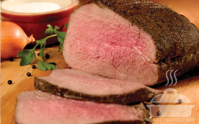 Deliciously Bold Eye of Round Roast - recipe on the Roast Perfect app.