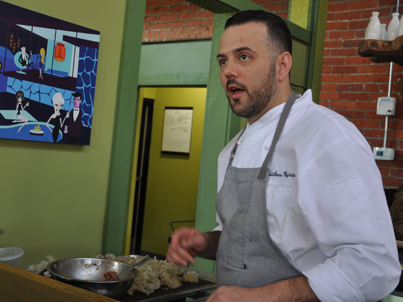 Chef Matt Mytro makes magical beef tartare.