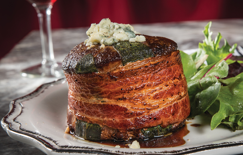 Blue Cheese Stuffed Bacon and Sage Wrapped Filet