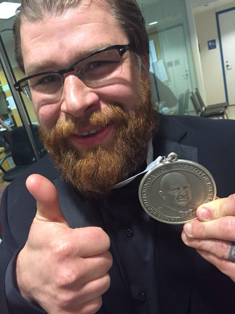 Sawyer - James Beard Award - dry age beef for 2016