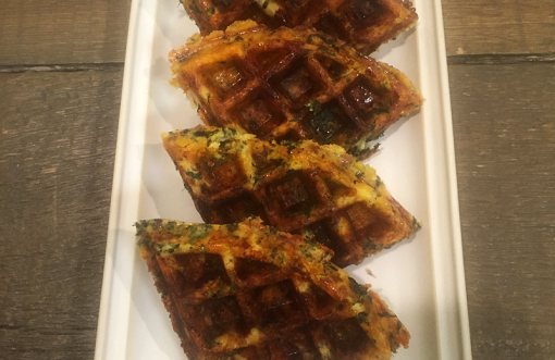Beef Bacon & Cauliflower Waffles